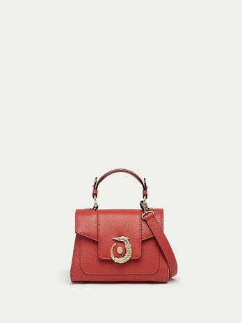 Mini Icon Bag Lovy aus einfarbigem Leder mit Levriero