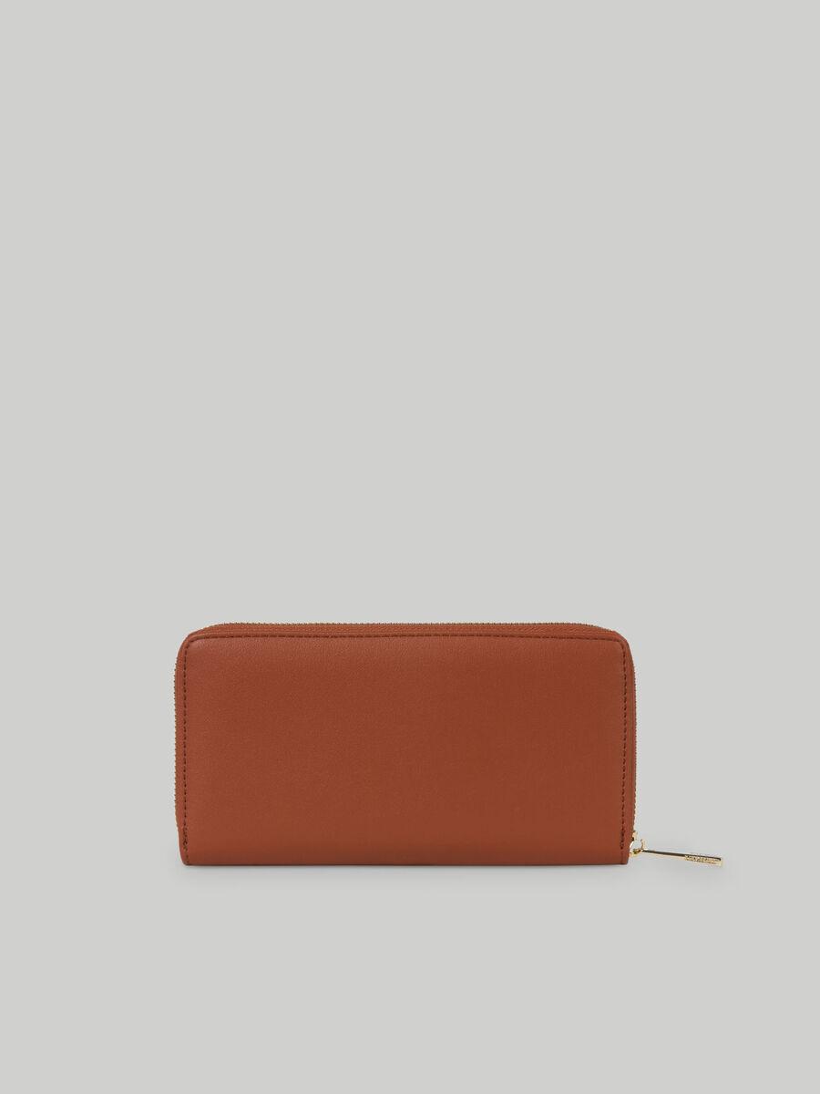Large faux leather Lisbona zip around purse