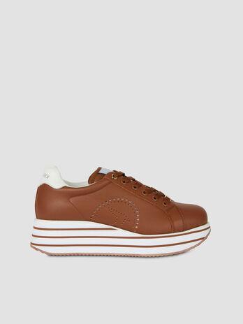 Sneakers a plateforme Erika en cuir