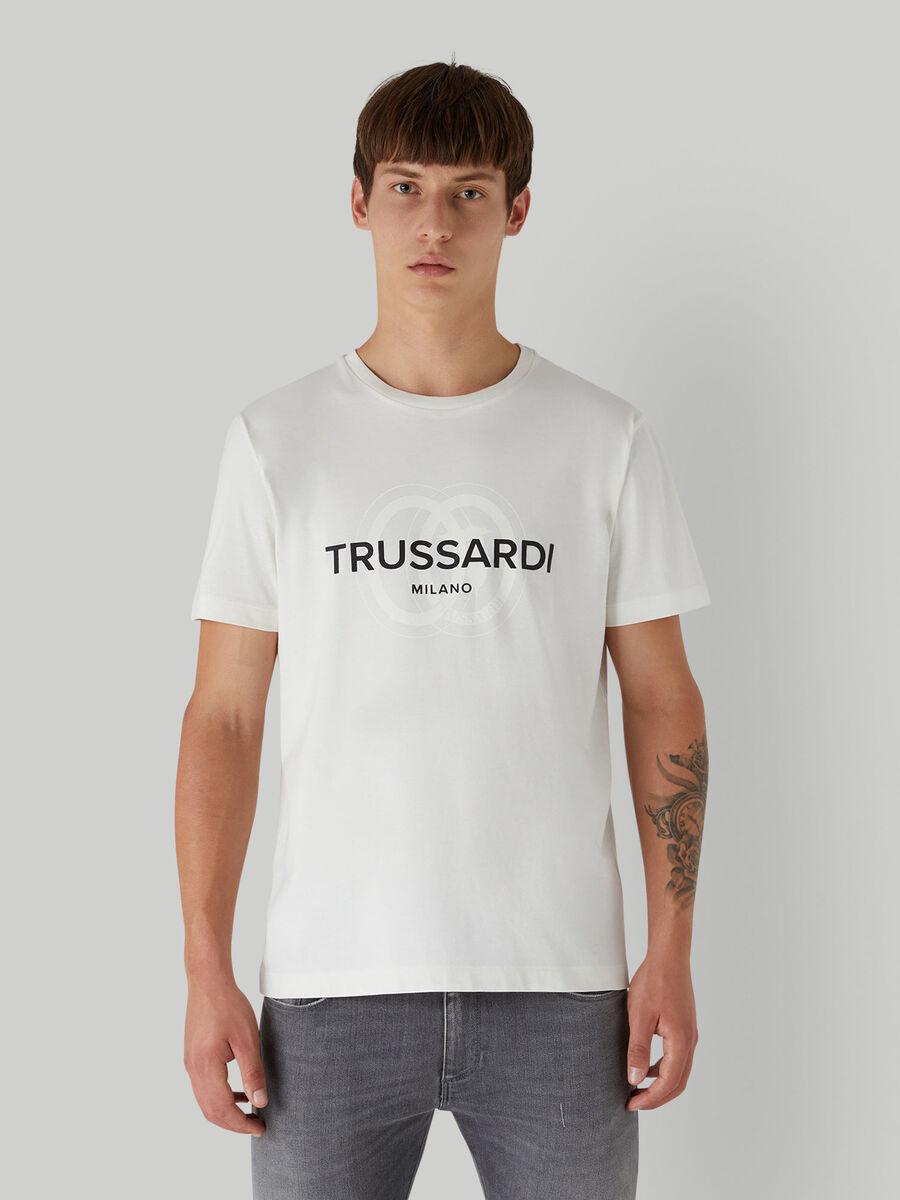 Cotton jersey T-shirt with logo | Trussardi ®