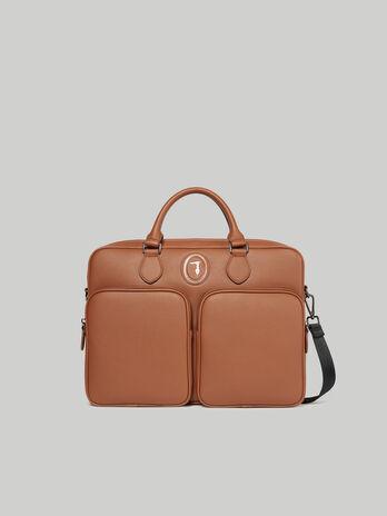 Medium Business bag in faux deerskin