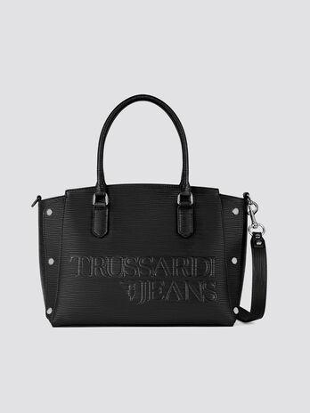 Mittelgrosse Handtasche Melly aus Saffiano Kunstleder