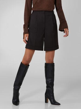 Wool blend shorts