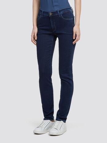 Einfarbige Stonewashed Jeans