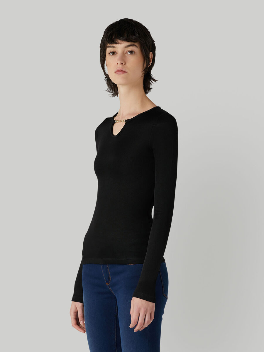 Slim-fit stretch jersey top