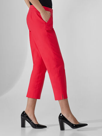 Pantalon cropped de algodon doble