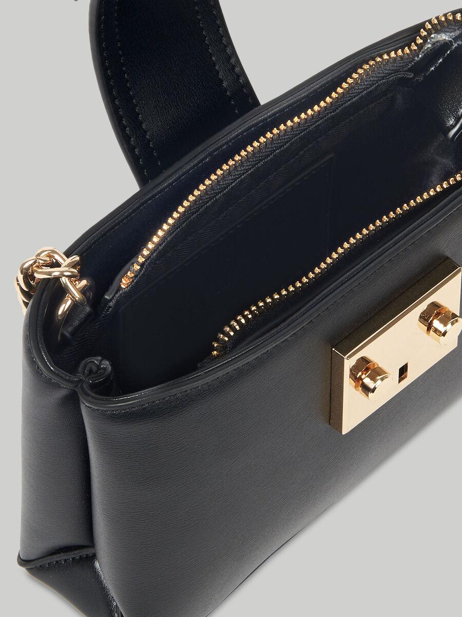 Small Tulip crossbody bag in metallic faux leather