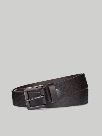 Cintura in cuoio con logo