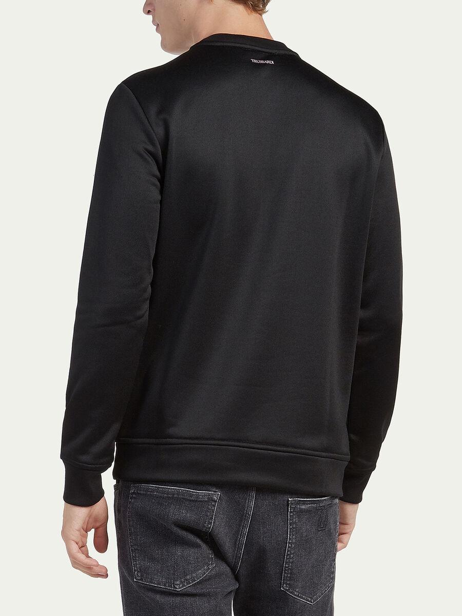Sweat-shirt coupe classique tissu technique et imprime