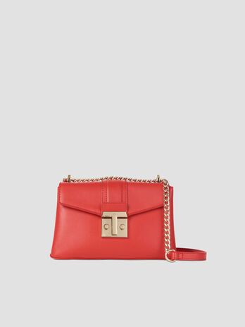 Medium Tulip crossbody bag in smooth faux leather