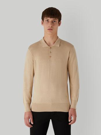 Poloshirt im Regular-Fit aus Baumwolle und Seide