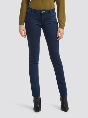 Up fifteen satin jeans
