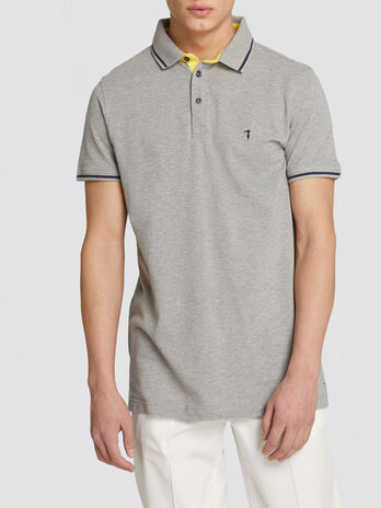Polo regular fit in piquet con logo