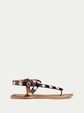 Sandali infradito con occhielli