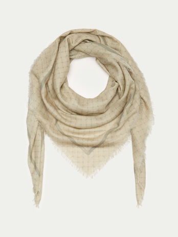 Cotton and modal Monogram scarf