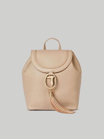 Medium Ellie backpack with deerskin print