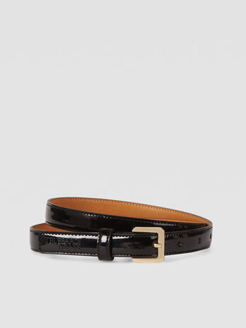 Ceinture T-Easy Light en similicuir verni
