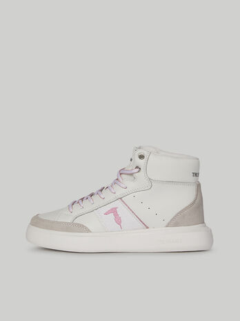 Leather mid-top Yris sneakers