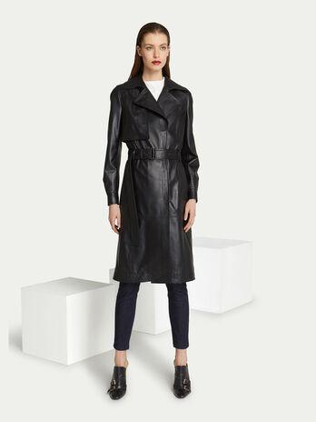 official photos 594d6 1ebd3 Cappotti in pelle da donna | Trussardi ®