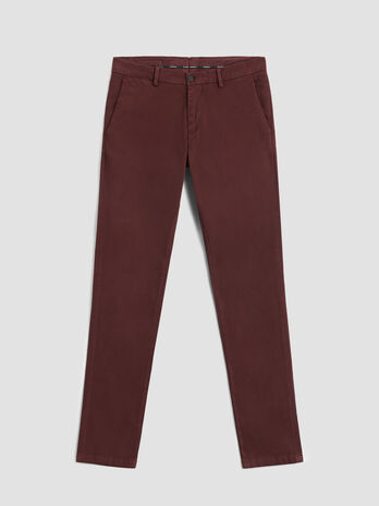 Pantalon coupe aviateur en gros grain stretch
