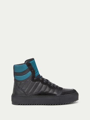 Sneaker aus Crespo Leder mit Veloursleder