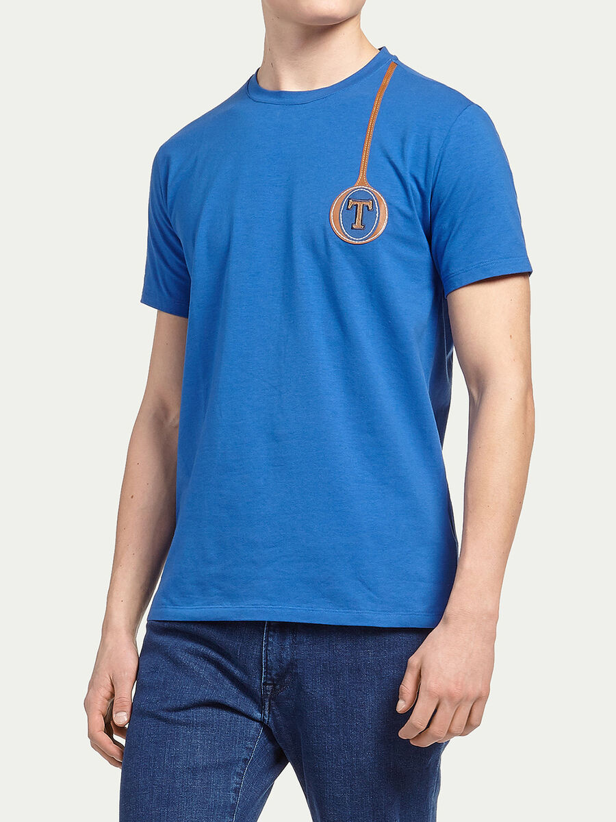 T-shirt jersey stretch logata