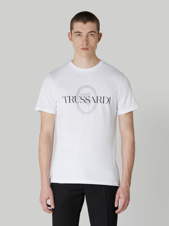 T-shirt regular fit in puro cotone con stampa