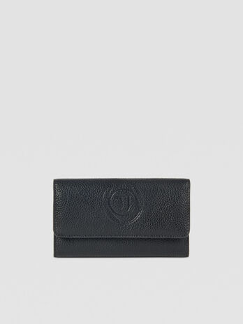 Large Faith bifold purse in faux leather with logo