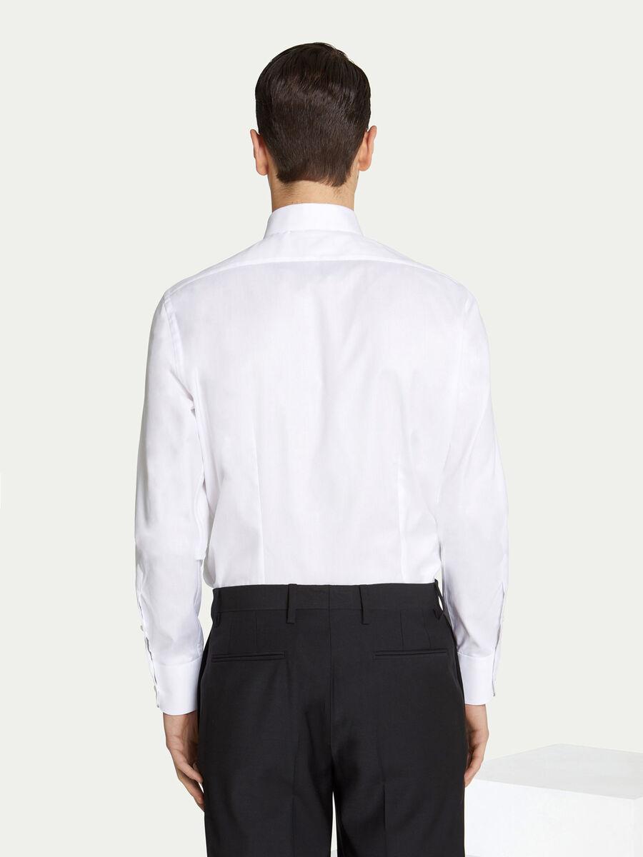 Camicia dallo stile classico in cotone tinta unita