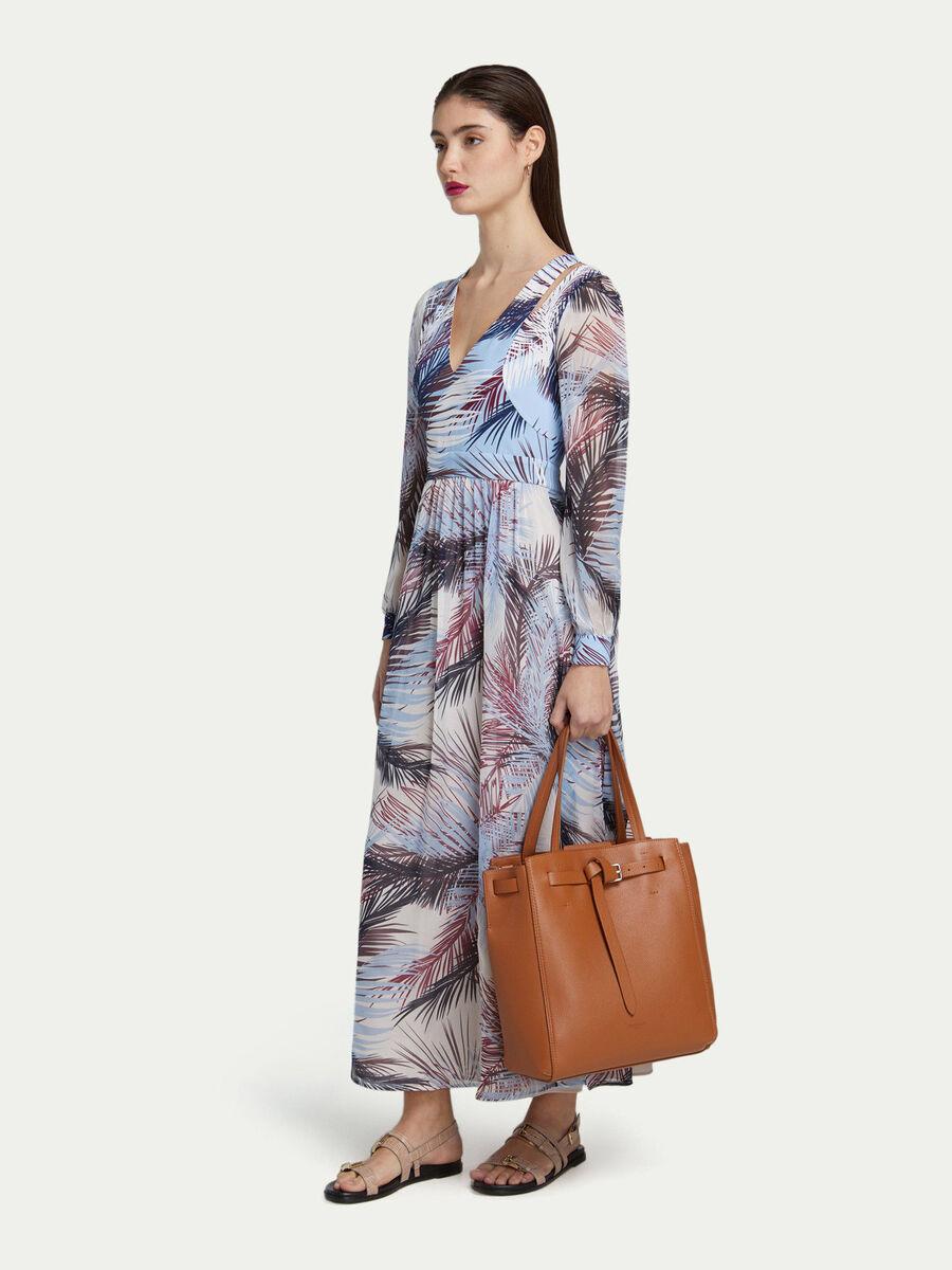Gita Bag Tote Medium aus Mattleder mit Schnallenriemen