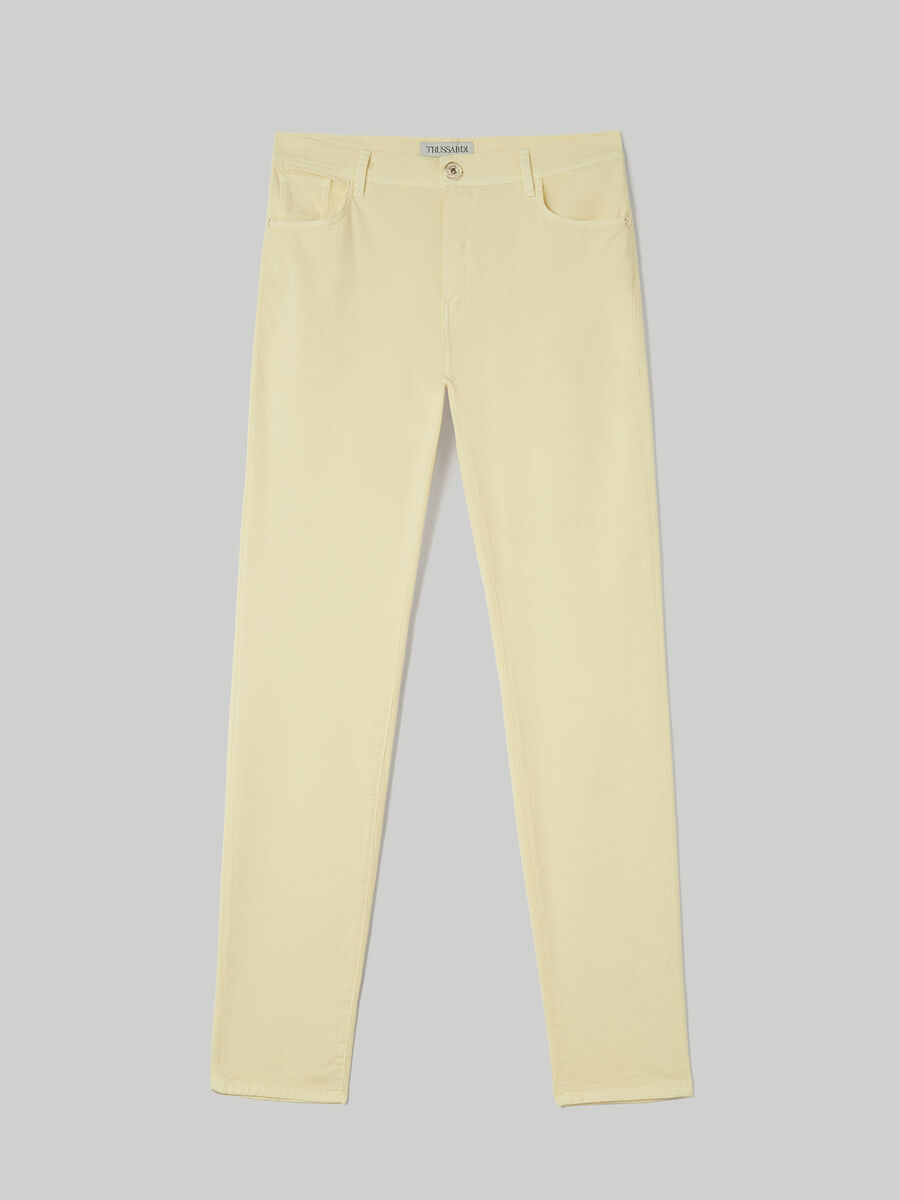 Hose 105 Skinny aus Baumwollgabardine