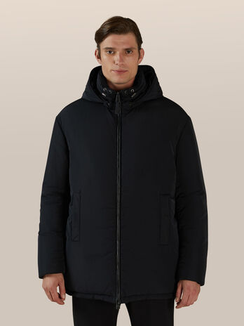 Regular fit matte nylon down jacket