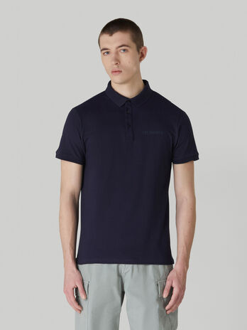 Polo regular fit in piquet stretch