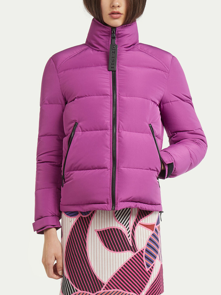 Regular fit unisex down jacket in real duvet padding