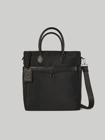 Medium Hero shopper in fabric and leather