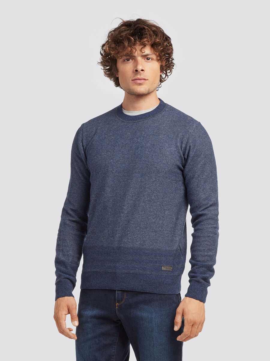 Pullover regular fit in vanise di misto lana