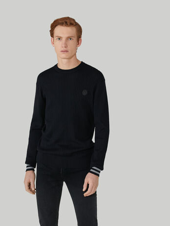 Regular-fit cotton sweatshirt with lettering print