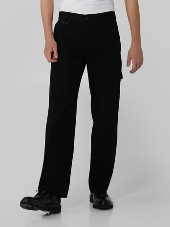 Pantalon coupe worker en bull reactive de couleur unie