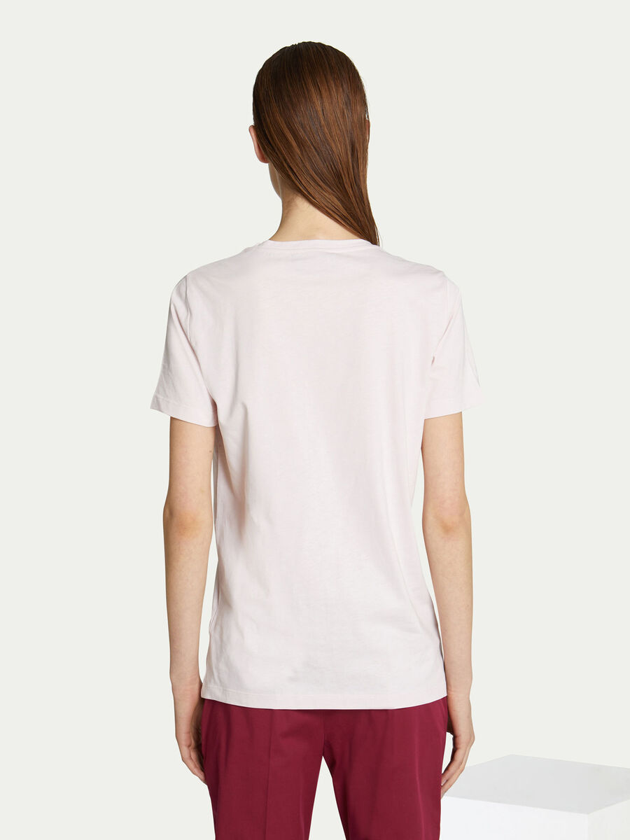 Regular fit cotton jersey T-shirt with lettering