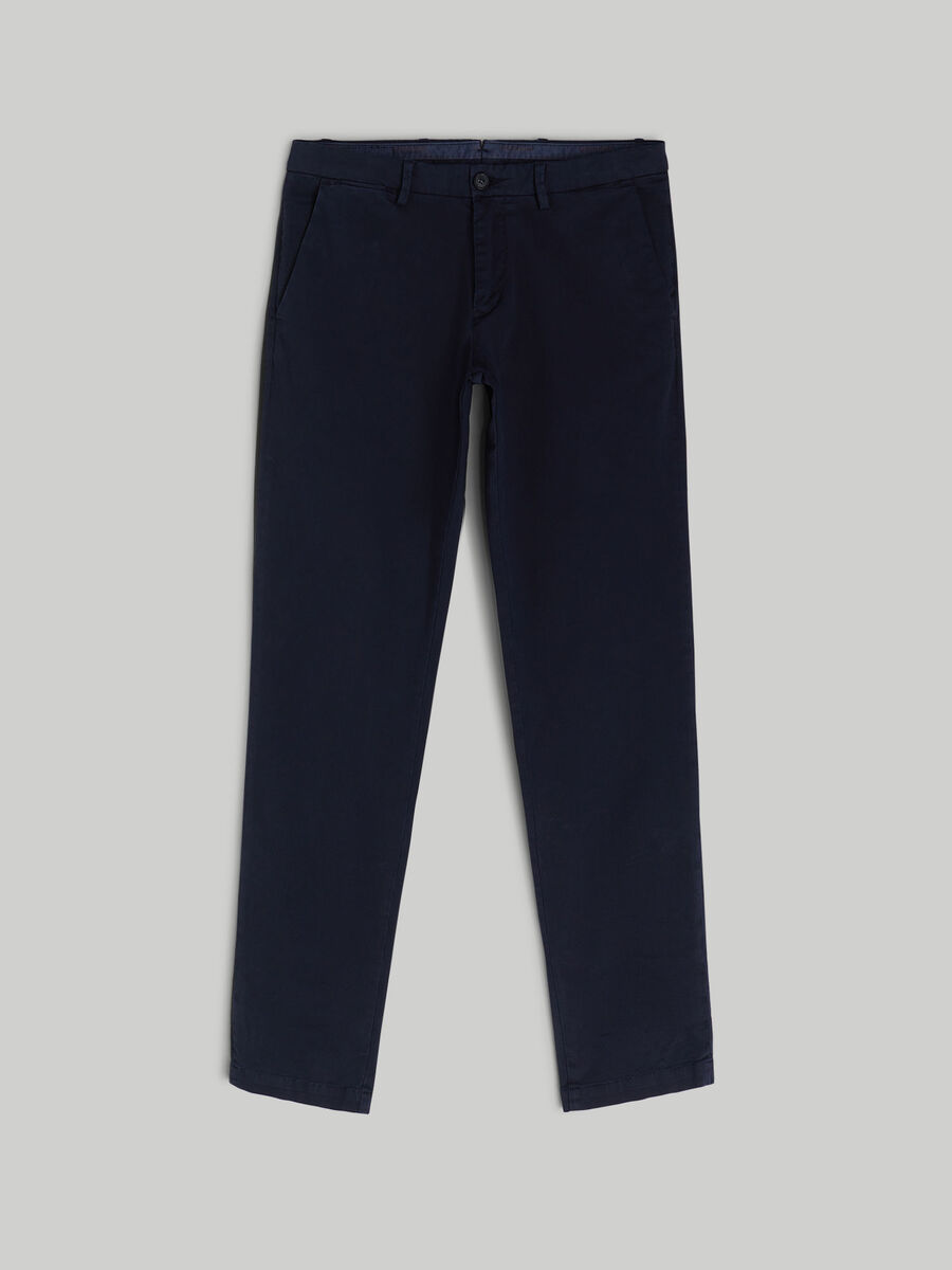 Printed gabardine Aviator-fit trousers
