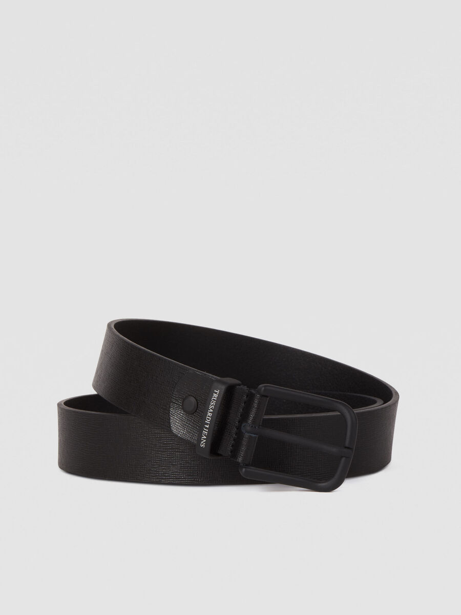 Textured leather Business Affair belt