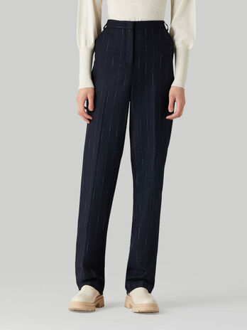Pantalon de lana raya diplomatica