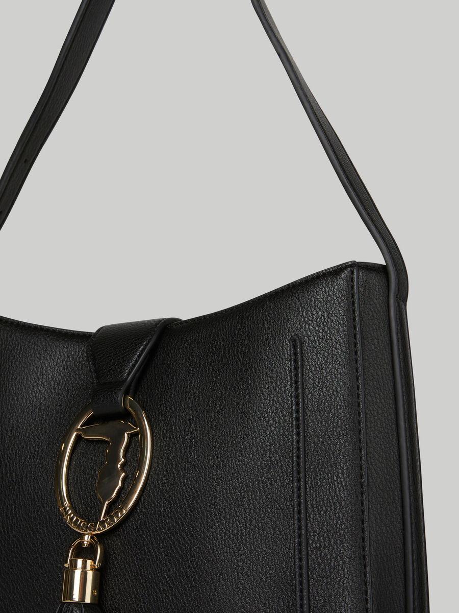Medium Ellie hobo bag with deerskin print