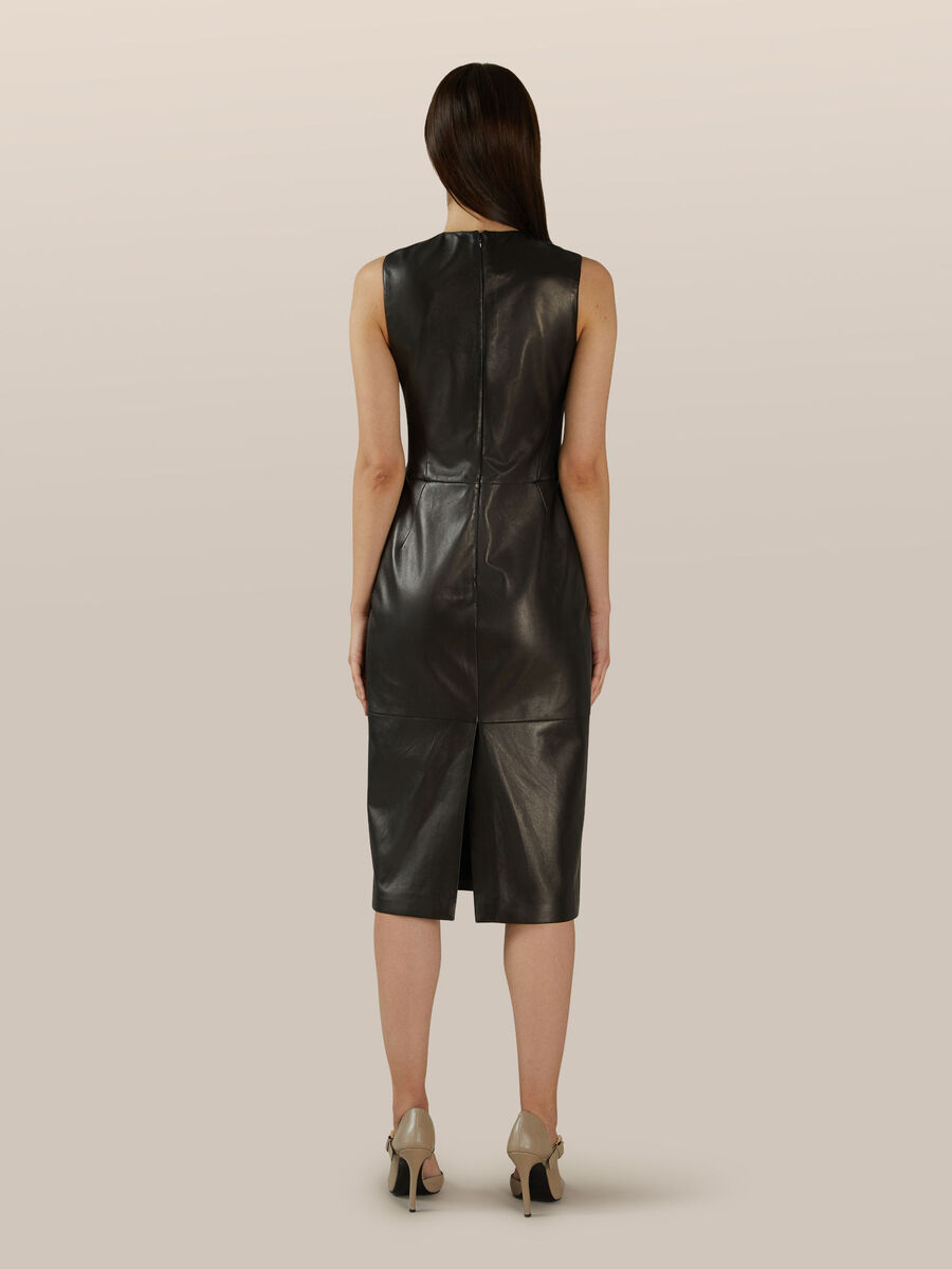 Slim fit leather dress