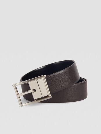 Cinturon Business Affair en saffiano de color liso