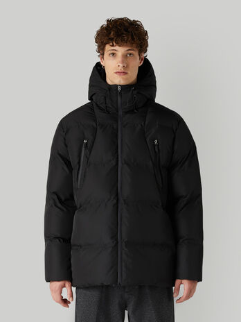 Waterproof nylon down jacket with hood