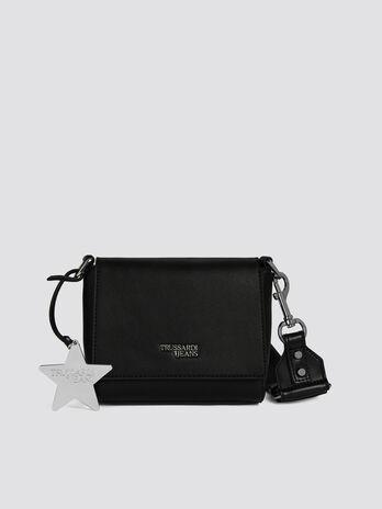 Faux leather T-Easy Cacciatora mini bag with stars