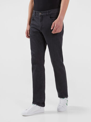 Icon 380 jeans in comfortable black Fuel denim