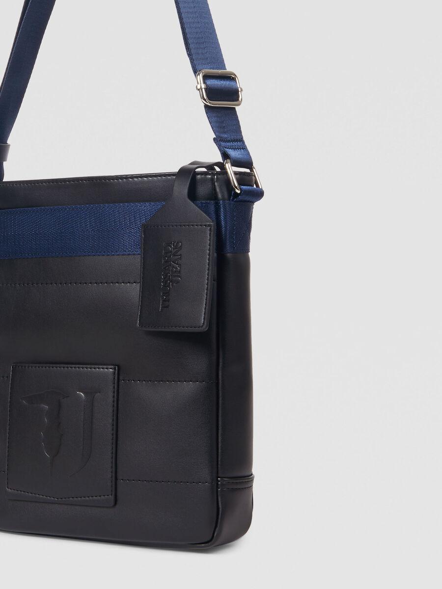 Medium faux leather Tici reporter bag