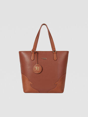 Tote bag Deco Edge small in similpelle bottalata
